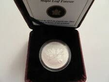 2011 Canada 1/2  oz Silver $10, .9999 fine, Maple Leaf Forever