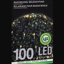 Lichternetz Kugel 100 LED warmweiß Ø90 cm Lichterkette Buxbaum Buchsbaum Kuppel