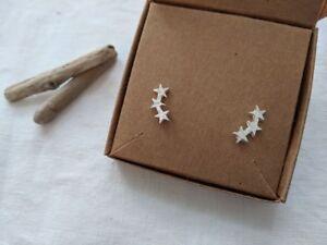 Star climber stud earrings celestial earrings Silver,Gold,Rose Gold FREE POSTAGE