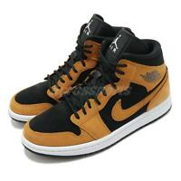 Nike Wmns Air Jordan 1 Mid SE Desert Ochre Black White Women Shoes DB5453-700