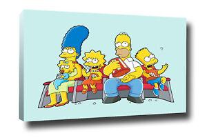 Simpson family Homer tela quadro arredamento design  Tela 50 X 33 Cm Bordo 2 Cm