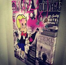 Original CRISP Richie Rich 40x32 Canvas Money Bazooka Street Pop art Kaws Banksy