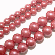 MAGNETIC HEMATITE BEADS PEARLIZED ROSE COLOR 6MM ROUND BEAD STRANDS P16