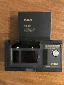 RCA VCA100 Motorized VHS-C Camcorder VHS Cassette Adapter VCR Pre-owned Untested