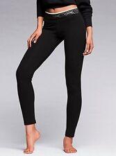 Victoria's Secret Leggings Yoga Pants Size L Black Lace