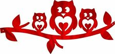 DXF CNC dxf for Plasma Router Clip Art Vector 3 Love Owls Man Cave Wall Art