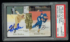 Eric Heiden & Bonnie Blair signed autograph 1996 Upper Deck Olympic PSA Slabbed