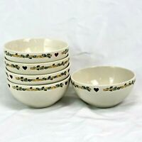 5 PIECE SET THOMSON BIRDHOUSE CEREAL BOWLS EXCELLENT FREE SHIPPING