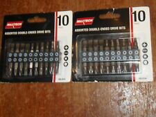 2 PKs New Maxtech 10 pc Assorted Double-Ended Drive Bits.  FREE SHIPPING  (LB-6)