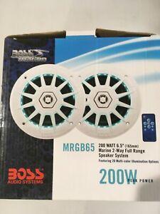 BOSS MARINE AUDIO MRGB65 200 WATT SPEAKERS