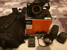 Sony A390 DSLRcamera and accessories