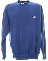 Adidas Sweatshirt Größe XL Pullover Blau Langarm Logo Bestickt