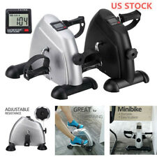 Under Desk Stationary Exercise Bike - Portable Arm Leg Foot Pedal LCD Display