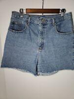 Vintage Bill Blass Cut Off Shorts Denim Medium Wash Blue Jeans Size 12/33 Waist