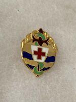 Authentic US Army 395th Evacuation Hospital Unit DI DUI Crest Insignia 22M