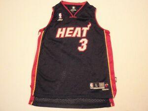 Dwyane Wade Miami Heat Reebok NBA Jersey Boys Large (14-16) #3 Length +2 sewn