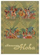 6 Hawaiian Holiday Cards - HAWAII Christmas - Hawaii Holiday Luau