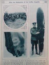 1916 CUFFLEY ZEPPELIN SOUVENIRS PROPELLER; GIANT FRENCH WAR ART WWI WW1