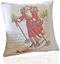 Kissenhülle 40x40 Weihnachtsmann Nostalgie Weihnachten Winter Landhaus Vintage