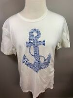 Roche Harbor Washington White Blue Short Sleeve Graphic Souvenir T Shirt Large L