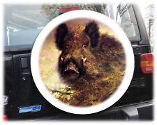 Wildschwein Keiler Wildsau Reserveradabdeckung Radhülle Reserveradhülle 72x28cm