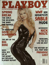 PLAYBOY US April 1999 WWF's SABLE Natalia Sokolova NICK NOLTE