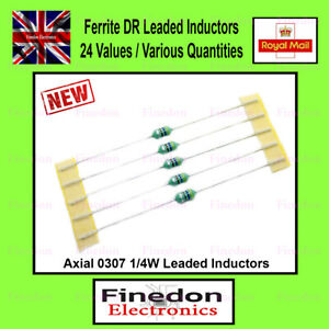 Ferrite Leaded Axial 1/4W 0307 Inductors Colour Coded 24 Values - UK