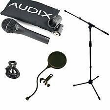 Audix*OM6 Microphone Bundle*with Mic Boom Stand, XLR Cable and Pop Filter Popper