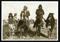 ⫸ 956 Postcard – Geronimo and Nachez – Apache Chiefs 1886 Photo – NEW