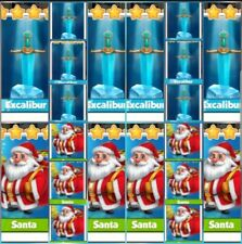 10 x Excaliburs & 10 x Santa's Coin Master Gold Cards (fast Delivery)