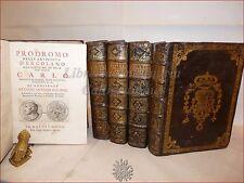 Archeologia - BAYARDI: PRODROMO ANTICHITA' DI ERCOLANO 5 voll 1752 Napoli TAVOLE