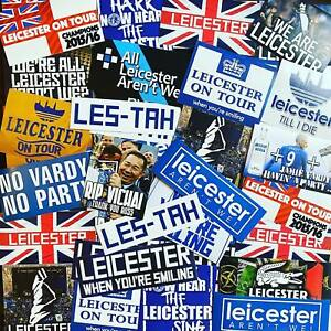 100 x Leicester Ultra Style Stickers inspired by City Champions Poster Programme