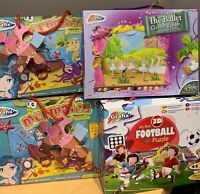 KIDS TOYS PUZZLES JIGSAW PIECES UNIQUE ACTIVITY GIFT NEW LEARN 3 YEARS FOOTBALL