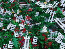 LEGO 25 NEW Random Pieces Of Garden Accessories Plants Flowers Grass Stem Fence