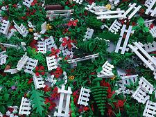 LEGO 50 NEW Random Pieces Of Garden Accessories Plants Flowers Grass Stem Fence