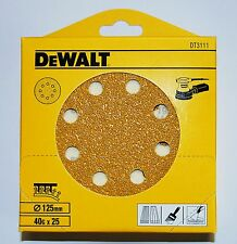 DeWalt Sanding Discs 125mm 40G Pack of 25 DT3111