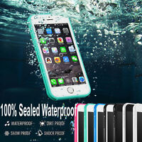 Slim Waterproof Shock Proof 360° Full Body Case Cover for iPhone X 8 7 6 6s Plus