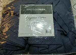 Luxury Rich Blue Egyptian Cotton Year Round Blanket  Full/Queen fast shipping