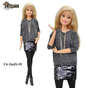 "ELENPRIV FAO-009 outfit top +skirt for Barbie MTM Pivotal 12"" doll"