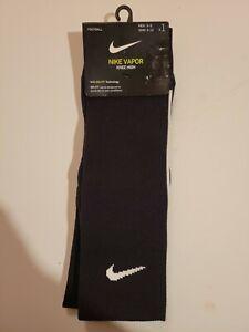 Nike Vapor Football Dri-Fit Knee High Socks Black White Men 6-8 Women 6-10