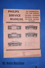 Philips Service Brochure for Car Radio Model CR5053, 5052 1964 Plymouth dodge va