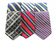 LOT OF SIX  MENS SILK NECK TIES BY NAUTICA FREE SHIPPING IN NORTH AMERICA