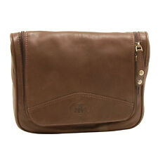 Rowallan - Brown Hanging Holborn Wash Bag in Full Grain Cow Softy Leather
