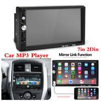 7in 2Din Car Bluetooth Stereo Radio Audio MP5 Player FM/USB/TF/AUX Mirror Link