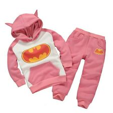 Kids Boys Girls Batman Hoodies Sweatshirt Tops Pants Outfits Set Clothes Costume