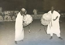 Cameroun  Rhumsiki Afrique Tambours Kapsiki CIRCA 1950 argentique CAMEROON