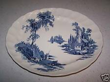 BEAUTIFUL 12'' BLUE PLATTER THE OLD MILL - JOHNSON BROS