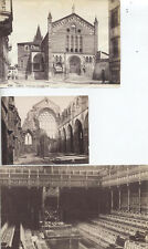 PHOTOS OF 3 BUILDINGS -S.FERMO MAGGIORE, HOLYROOD ABBEY,   UK HOUSE OF COMMONS