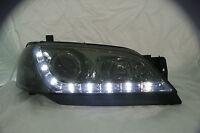 Ford Falcon BA Sedan Ute Wagon DRL Like LED Smoke Finish Projector Headlights