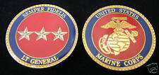 LT GENERAL CHALLENGE COIN US MARINES USMC MARINE 0-9